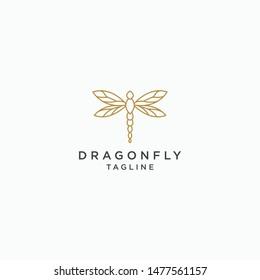 Dragonfly Logo Icon Design Template. Elegant, Modern, Premium - Vector