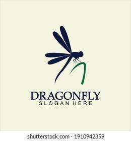 Dragonfly Logo Vector icon illustration design template
