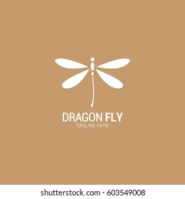 Dragonfly Logo Vector Illustration.