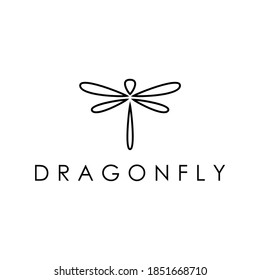 dragonfly simple minimalist logo design