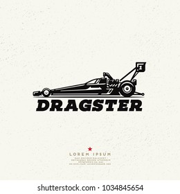 Dragster car logo design.