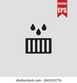 Drain icon in trendy isolated on grey background.Vector illustration.