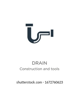 Drain icon vector. Trendy flat drain icon from construction and tools collection isolated on white background. Vector illustration can be used for web and mobile graphic design, logo, eps10