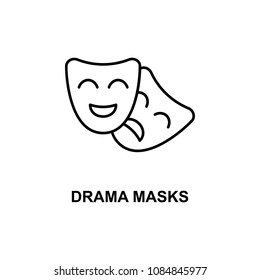 drama masks icon. Element of cinema for mobile concept and web apps. Thin line drama masks icon can be used for web and mobile. Premium icon on white background