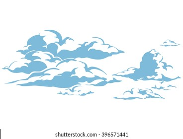 draw cartoon cloud vector