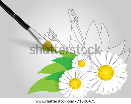 Draw flowers on paper brush stock vector royalty free 71508475 draw flowers on paper with brush mightylinksfo