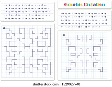 Draw a picture on the arrows. Cartoon graphic butterfly. Worksheet for kids