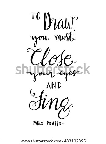 Draw You Must Close Your Eyes Stock Vector Royalty Free 483192895