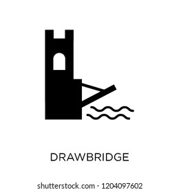 drawbridge icon. drawbridge symbol design from Fairy tale collection. Simple element vector illustration on white background.