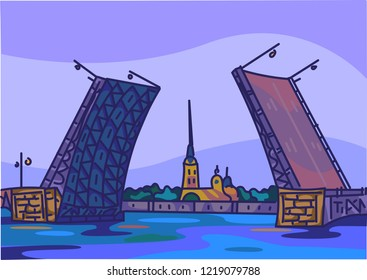 Drawbridge in St. Petersburg