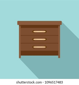Drawers icon. Flat illustration of drawers vector icon for web design