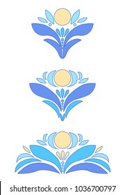 Drawing of a blue lily or lotus