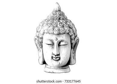 Drawing of a Buddha