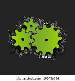 Drawing business formulas: cogwheel