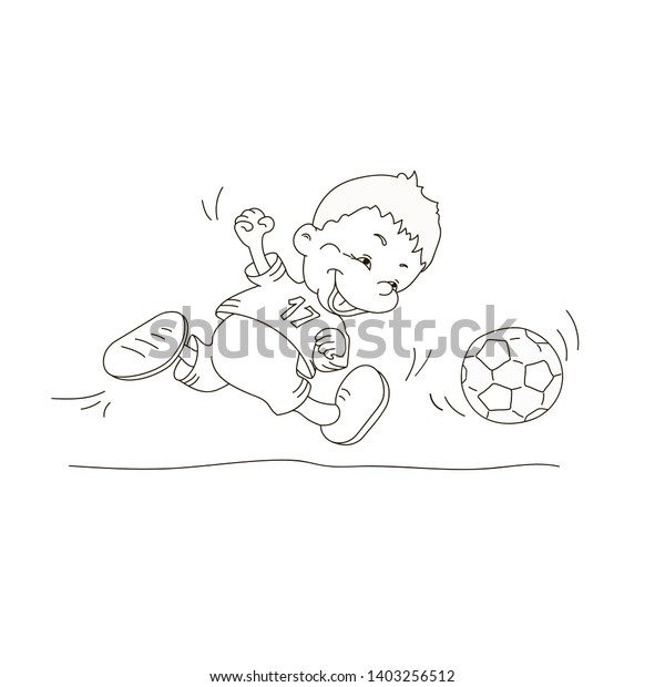 Drawing Coloring Kids Adults Soccer Football Stock Vector Royalty Free 1403256512