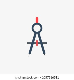 drawing compass vector icon