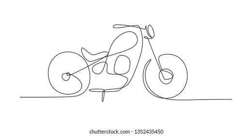 drawing a continuous line of motorized chopper motor hand drawn