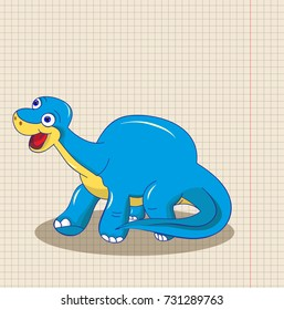 drawing of a dinosaur, isolated, vector
