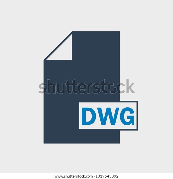 Drawing Dwg File Format Icon On Stock Vector (Royalty Free