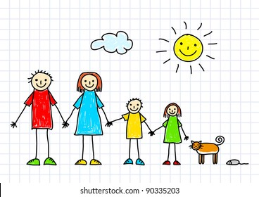 Drawing of family