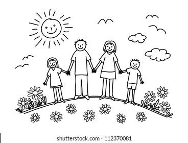 Family Drawing Images, Stock Photos & Vectors | Shutterstock