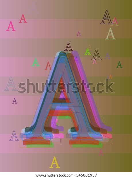 Drawing Form Artistic Font Around Alphabet Stock Vector Royalty Free 545081959