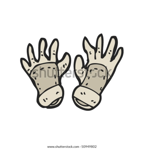 Drawing Gardening Gloves Stock Vector (Royalty Free) 50949802