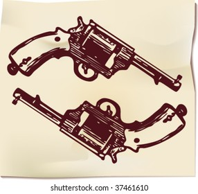 Drawing of guns