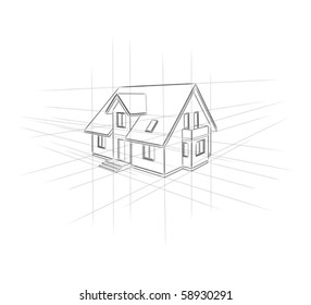 Drawing home on a white background.