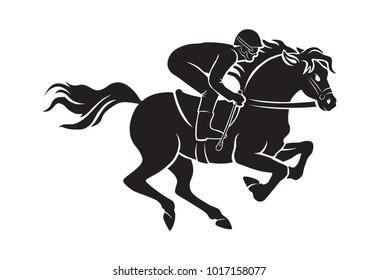 drawing horse racing