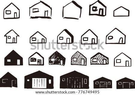 Drawing House Shapes Stock Vector Royalty Free 776749495