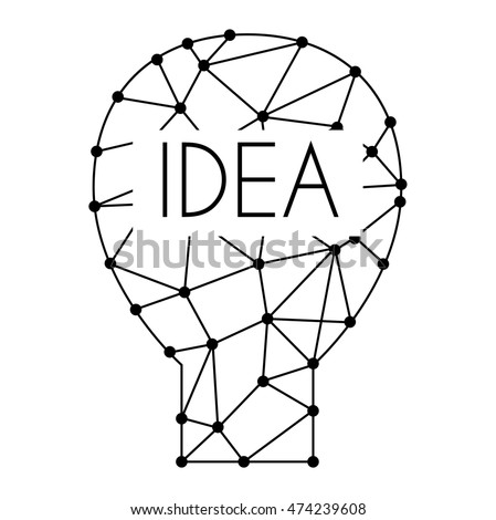 Drawing Idea Light Bulb Concept Creative Stock Vector Royalty Free