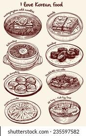 Drawing of Korean food