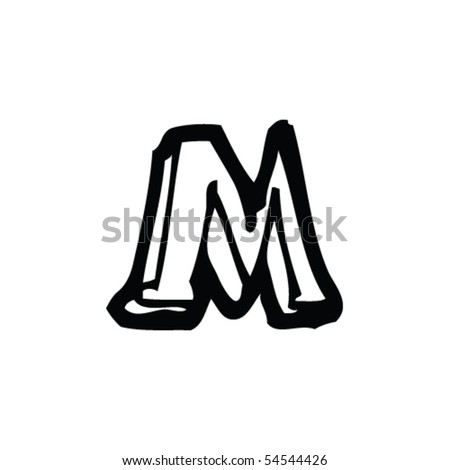 Drawing Letter M Stock Vector Royalty Free 54544426 Shutterstock