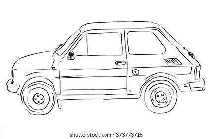 Drawing of little old car