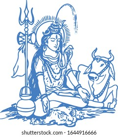 Lord Shiva Sketches Images Stock Photos Vectors Shutterstock