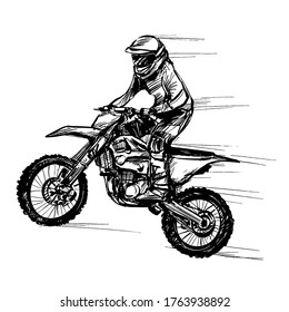 Drawing of the motocross competitions