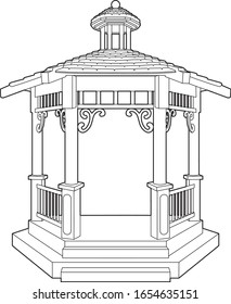 Drawing of a nice little bandstand