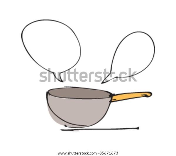 drawing of a pan