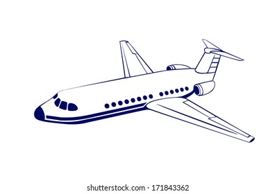 drawing of the passenger plane
