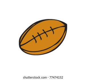 Drawing Rugby Ball Stock Vector Royalty Free 77474152
