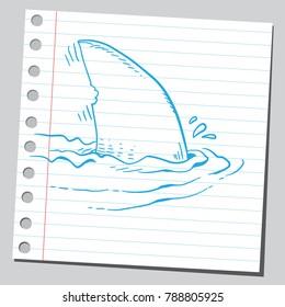 Drawing of shark fin