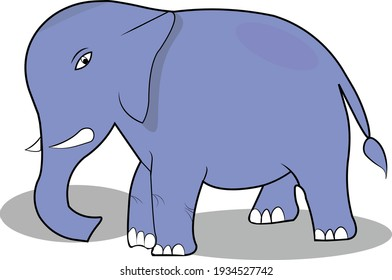 Drawing Simple Elephant Vector Illustration
