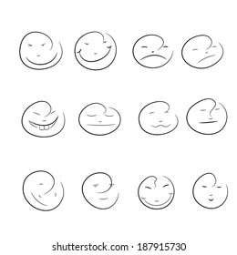 drawing of a smiley face models.