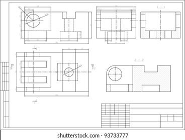Imágenes, fotos de stock y vectores sobre Cad Drawing On