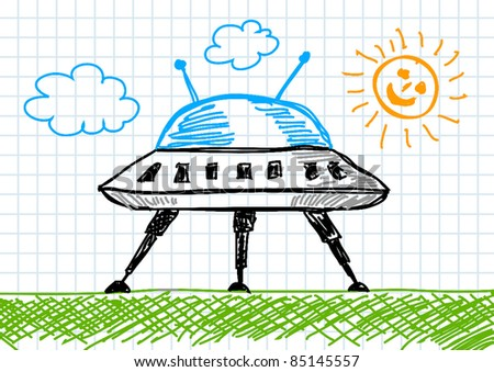 drawing spacecraft stock vector royalty free 85145557 shutterstock