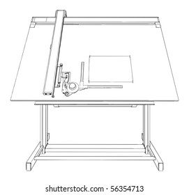 Drawing Table Vector 02