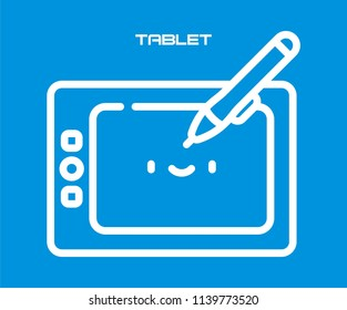 DRAWING TABLET VECTOR ICON