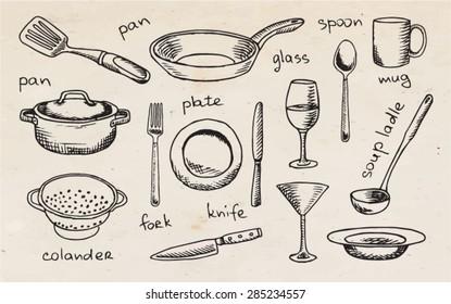 Imagenes Fotos De Stock Y Vectores Sobre Drawings Of Kitchen