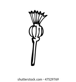 drawing of a thistle